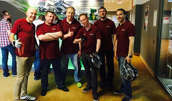 Mit Vollgas zum Teamerfolg: dibuco beim Go-Kart Cup 2017 im Sensadrom