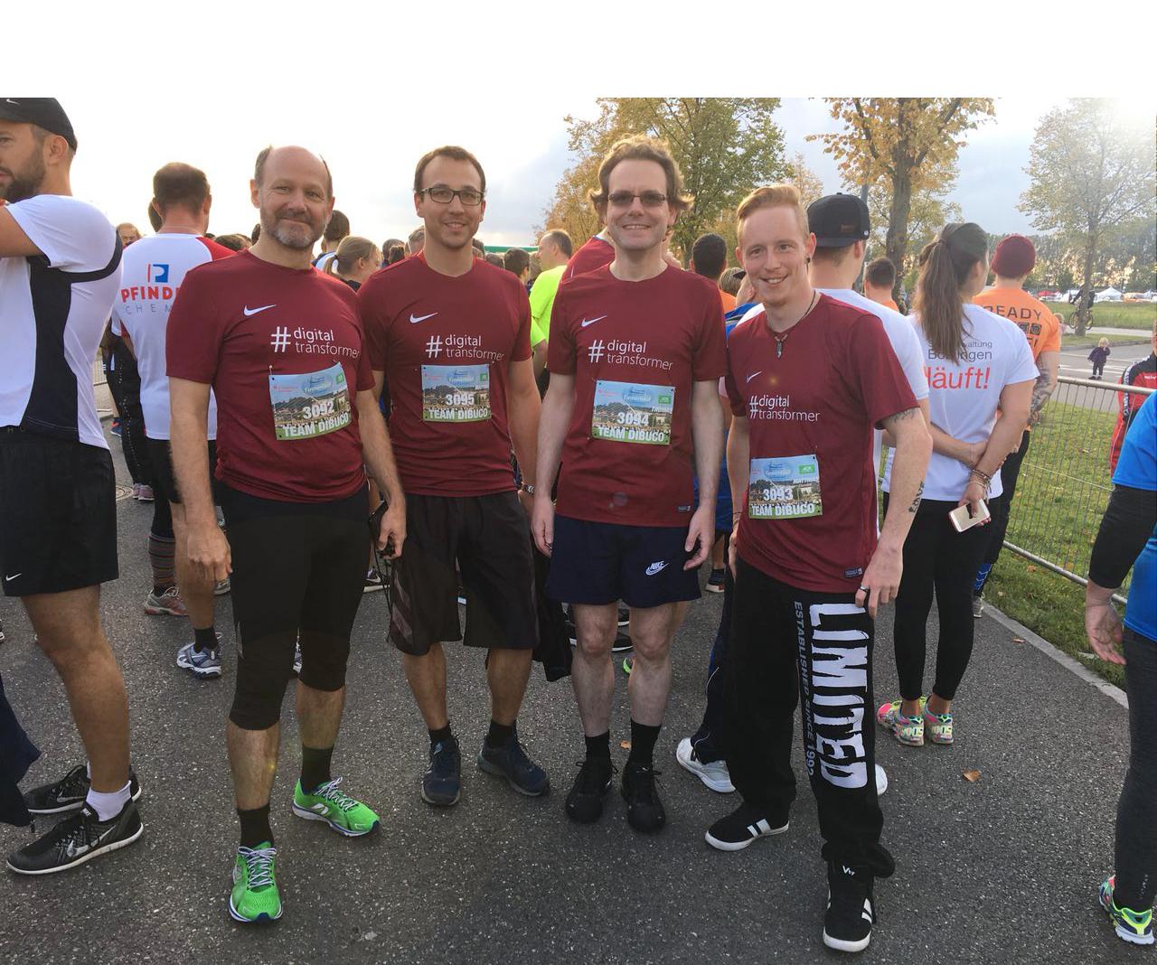 Starke Teamleistung: dibuco startete beim Flugfeld Firmenlauf in Böblingen 2017